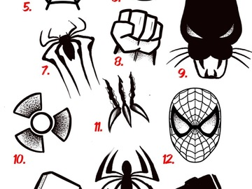 Tattoo design: Marvel Flash Sheet - 9