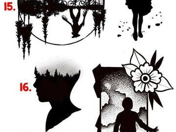 Tattoo design: 18 - Blackout 011