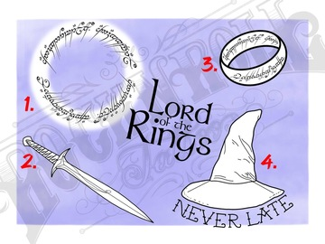 Tattoo design: 4 - A Wizard is Never Late