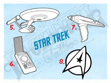 Tattoo design: Star Trek Flash - 7