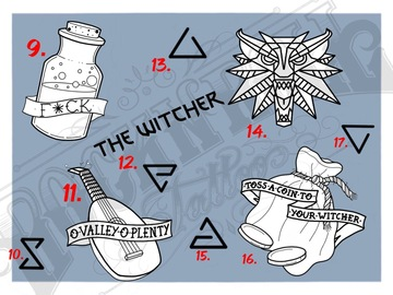 Tattoo design: Witcher Flash - 15