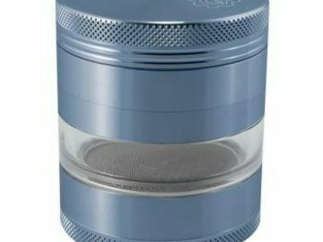Post Products: 2.5 In Grindhouse 4pc Grinder With Window – Blue