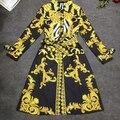 "Buy Now: ""Versace-Inspired"" Boroque-Print Trench Coat for Women"