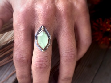 Selling: Chalcedony Stacking Rings, Custom finished