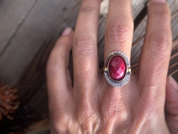 Selling: Ruby Stacking Rings, Custom Finished