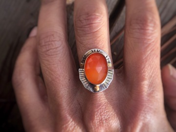 Selling: Carnelian Stacking Rings, Custom Finished