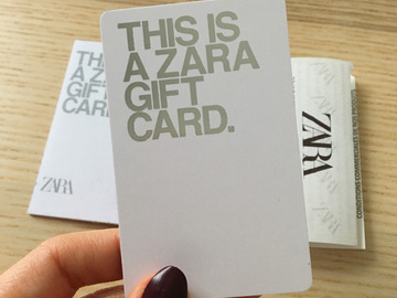Vente: Carte cadeaux Zara (50€)