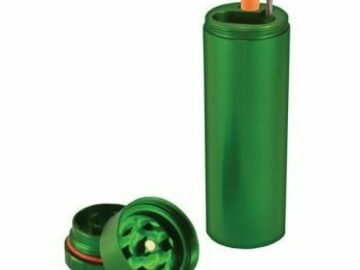 Post Now: All in One Metal Dugout with Grinder – Green