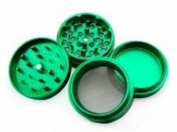 Post Products: Aluminum Herb Grinder with Pollen Screen 56mm… Various Colour