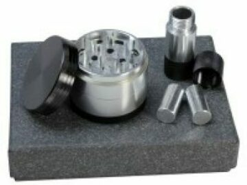 Post Products: Aluminum Herb Grinder and Pollen Presser Gift…