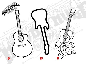 Tattoo design: Music Flash - 9
