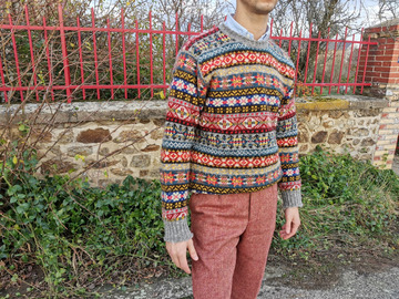 Online payment: Jamieson's Fair Isle Jumper size S /38