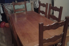 Vente: table en chêne avec 6 chaise