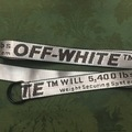 "Buy Now: 6 Off White inspired Silver/Gray d-ring utility belt unisex 51.2"""