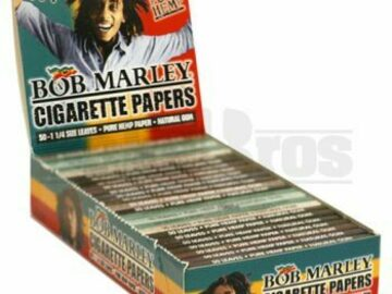 Post Products: Bob Marley Rolling Papers 1 1/4 50 Leaves Unflavored Pack Of 25