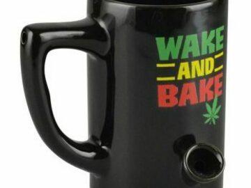 Post Now: Black Wake and Bake Coffee Mug Hand Pipe