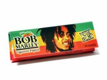 Post Products: Bob Marley Rolling Papers 1 1/4 50 Leaves Unflavored Pack Of 9