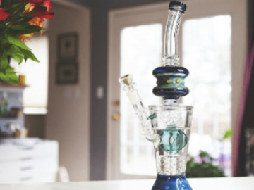 Post Products: Boo Glass Fire Cut Donut Perc Water Pipe
