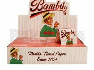 Post Now: Bambu Pure Hemp Cigarette Paper Unflavored Pack Of 50