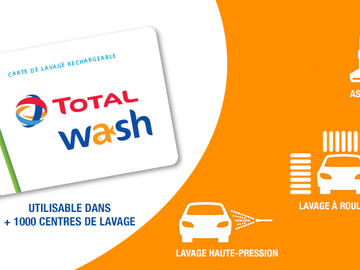 Vente: Carte Total Wash (76€)
