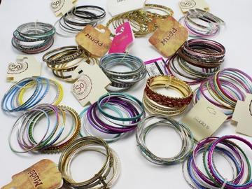 Liquidation/Wholesale Lot: 24 Sets New Dept. Store Bangle Bracelet Sets $320 + Retail Value