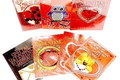 Liquidation/Wholesale Lot: 100 Piece - Asst Large Valentine's Day Greeting Cards (9″ X 7″)