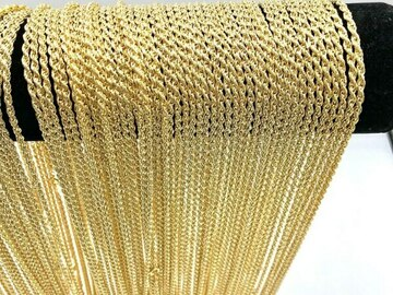 Liquidation/Wholesale Lot: 72pcs Diamond Cut Rope Chains 14 kt Gold Plated - 18 inch- 3.2 mm