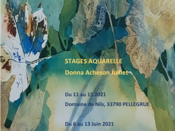 Offre:  Stages 2021 - Aquarelle avec Donna Acheson Juillet
