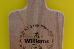 Selling with online payment: Customized Cutting Board
