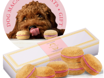 Selling: Strawberry Dog Macarons - #1 Best Gift by Marie Claire