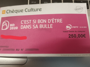 Vente: Chèques culture Up (180€)