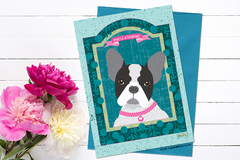 Selling with online payment: French bulldog, Labrador Retriever, Pug Greeting Cards
