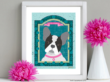 Selling with online payment: French bulldog, Labrador Retriever, Pug Art Prints 8x10