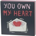 """Selling with online payment: """"You Own My Heart"""" Block Print"""