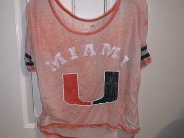 Selling A Singular Item: Distressed University of Miami T-shirt