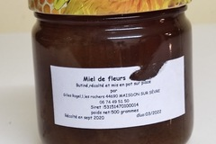 Les miels : Miel  de fleurs, récolté en 2020