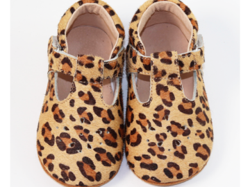 : Baby / Toddler Genuine Leather Leopard T strap shoes