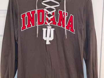 Selling A Singular Item: Tailgate Teens By Gabby Lace Up Indiana Long Sleeve Tee