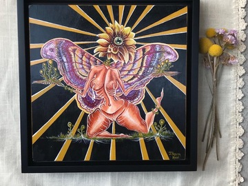 Selling with online payment: Third Eye Butterfly ORIGINAL Painting