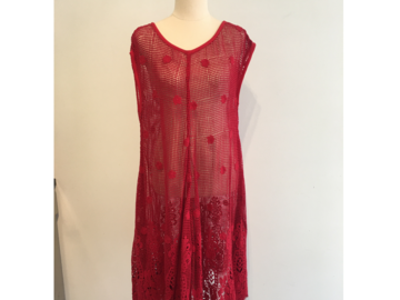Selling: Red Crochet Dress