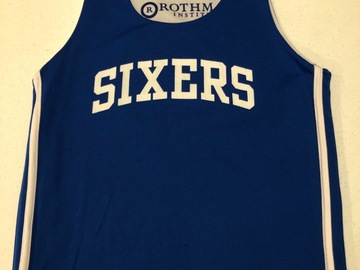 Selling A Singular Item: Reversible Sixers Autographed Warm Up Jersey