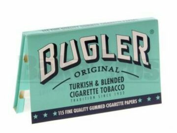 Post Now: Bugler Rolling Papers Sw 115 Leaves Unflavored Pack Of 6