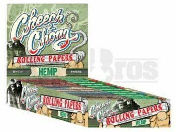 Post Now: Cheech & Chong Rolling Papers Hemp 1 1/4 Unflavored Pack Of 25