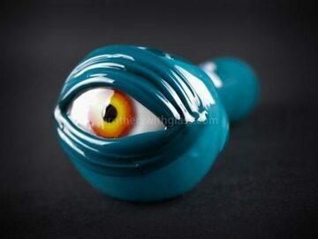 Post Products: Chameleon Glass Cyclops Hand Pipe – Teal