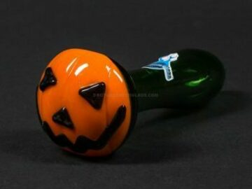 Post Products: Chameleon Glass Jack O Latern Hand Pipe
