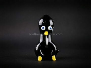 Post Products: Chameleon Glass Sculpted Bird Hand Pipe – Chilly Willy Penguin