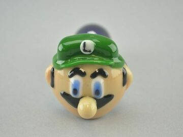 """Post Products: CHAMELEON – """"Luigi"""" Spoon Pipe w/ Single Hole Push Bowl & Carb"""