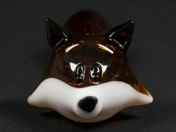 Post Products: Chameleon Glass Fox Hand Pipe