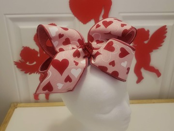 Selling with online payment: Heart Shape Bow - French Clip- 7 inch