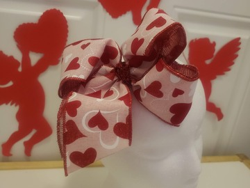 Selling with online payment: Heart Bow - Alligator Clip - 6 inch